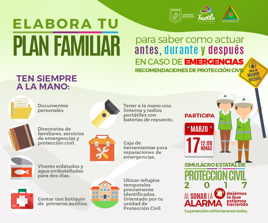plan familiar sistema municipal de protección civil de tuxtla